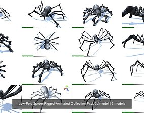 Low-Poly Spider Rigged-Animated Collection Pack 3d model