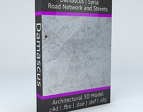 3D model Damascus Road Network and Streets