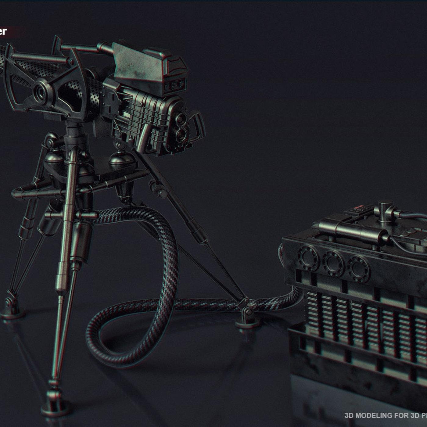 E-WEB heavy repeating Blaster