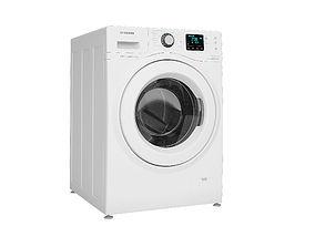 cleaning 3D Samsung WF80F7E3P6W washing machine