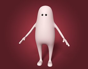 Cartoon Stickman Character 3D model