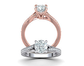 1ct Diamond ring Solitaire Engagement ring 3dmodel