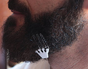 Crown for beard - lateral wearing 3D print model