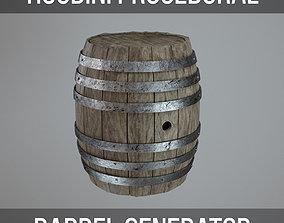 Wooden Barrel HDA 3D