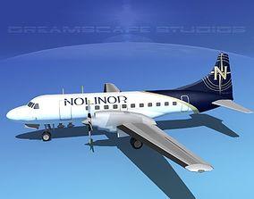 Convair CV-580 Nolinor Cargo 3D