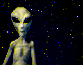 Grey Alien - Movie Communion 1989 - Zbrush Model