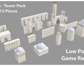 3D model Historic Castle Tower Pack