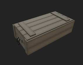 Stylized Army Crate 3D model