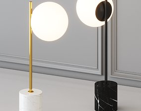 3D West Elm - Sphere and Stem Table Lamp