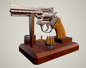 Detailed Manurhin MR 73 Custom Revolver -Game- 3D asset