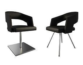 3D Jolly Leather Black armchairs