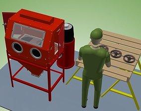 Sand Blast Cabinet 3D