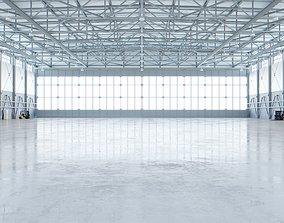 Airplane Hangar Interior 4 3D model