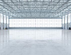 3D asset Airplane Hangar Interior 4