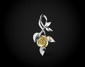 pendants 3D printable model Rose pendant