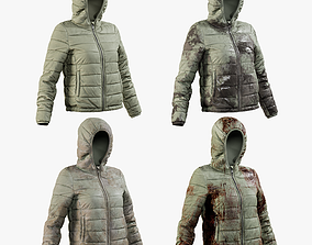 Womens Down Jacket 2 Collection 1 3D model PBR