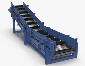 Apron conveyor 3D model