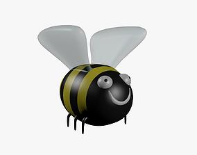 Bumblebee cartoon 3D asset