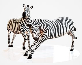 3D model Zebra Rigged