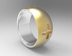 3D printable model ring krest