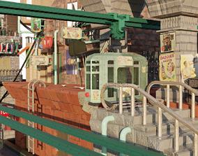3D model Tram Station City underground