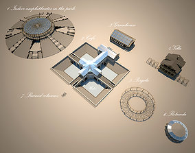 3D model park and architecture