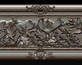 Bas Relief Sculpture the family of eagles 3D model
