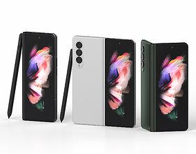 Samsung Galaxy Z Fold 3 zfold 3D model