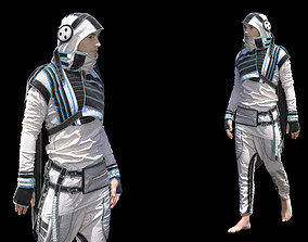 Sci-fi Mens clothing Marvelous Designer project 3D