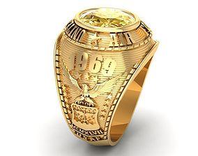 3D printable model 565 Souvenir USA Men Ring