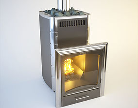 SiberStove Deluxe Wood-Burning Hot Stone Stove Kauri 3D