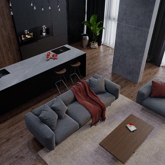 Bachelor's apartment