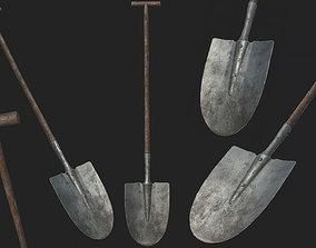 Old Shovel PBR 3D asset