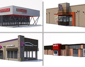 Fast Food Restaurant Collection 3D model