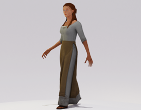 Peasant Woman 01 3D asset