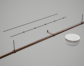 Smoke Detector Modular Scene 3D asset
