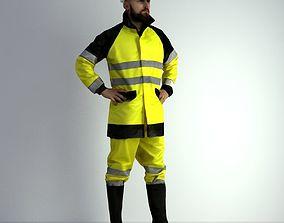 worker 3D Scan Man Worker Safety 017