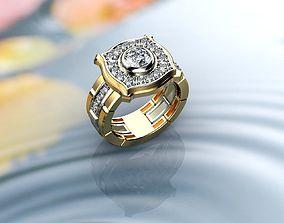 Rolex Style Men Ring 3D print model