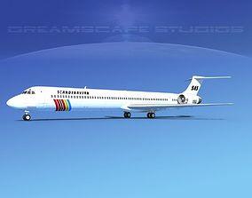 3D model McDonnell Douglas MD-90 SAS