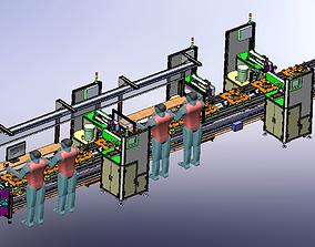 3D model Air speaker rear cover assembly line