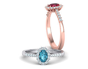 Diana Classic Ring Engagement ring with 6x4 Oval stone