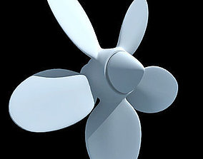 White 5 Side Propeller 3D model