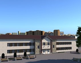 education exterior 3D School