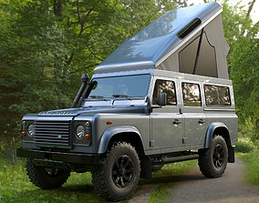 3D model Land Rover Defender 110 Camper