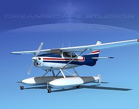 3D Cessna 182 Skylane Seaplane V04