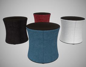 3D model Drum Pouf