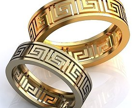3D printable model diamond-ring Gold Metal Rings