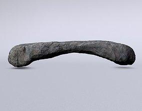 3D asset Low poly rock bridge