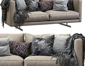 DEE DEE Leather Sofa By BERTO 3D model