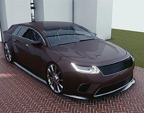 BLENDER EEVEE Brandless Small 4 door hatchback 3D model